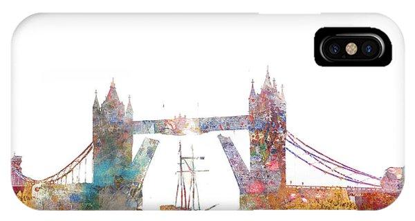Tower Bridge Colorsplash IPhone Case