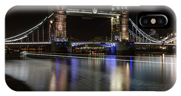 Tower Bridge With Boat Trails IPhone Case