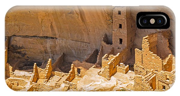 Tower House Panorama In Mesa Verde IPhone Case