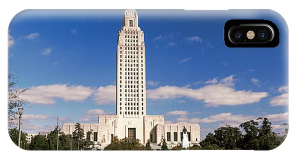 Capitol Building iPhone Case - Tower Of A Government Building by Panoramic Images