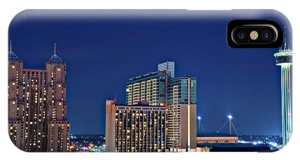 Tower Of America In San Antonio Texas City  Aerial IPhone Case