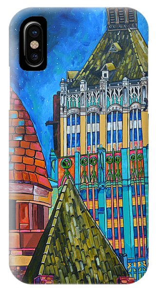Courthouse iPhone Case - Tower Of Life Building And Courthouse by Patti Schermerhorn
