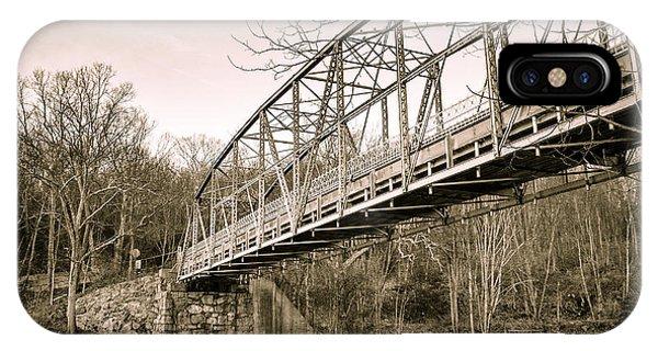 Town Bridge Collinsville Connecticut IPhone Case