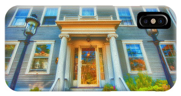 Town House Nantucket And Two Lamps 001 IPhone Case