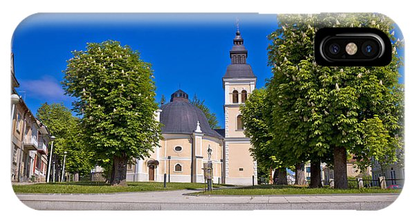 Town Of Daruvar Square And Church IPhone Case
