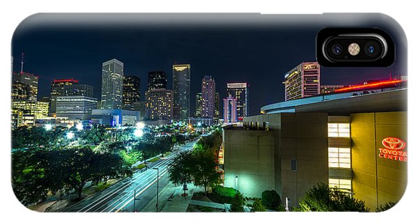 Toyota Center And Downtown Houston IPhone Case