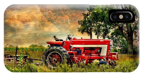 Tractor In Field IPhone Case