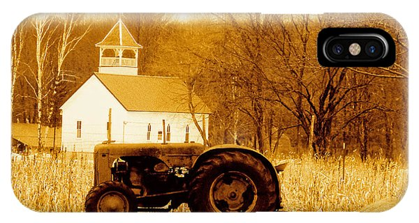 Tractor In The Field IPhone Case