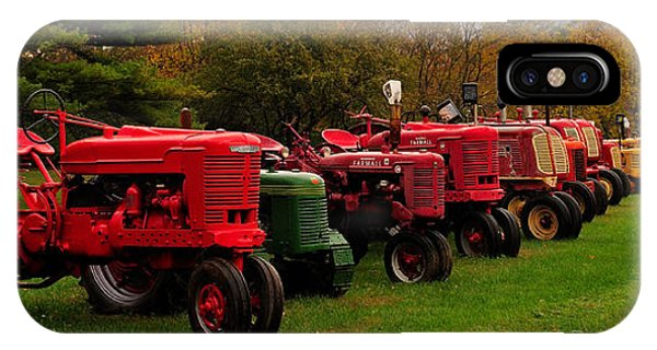 Tractor Lineup Phone Case by Don Dennis