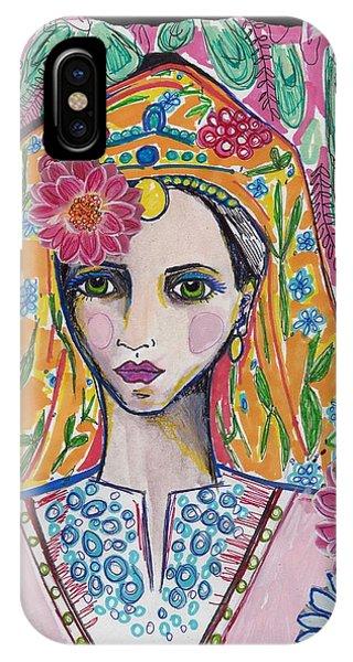 Traditional Bulgarian Folk Girl IPhone Case