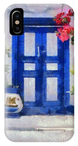 Traditional Door In Hydra Island IPhone Case