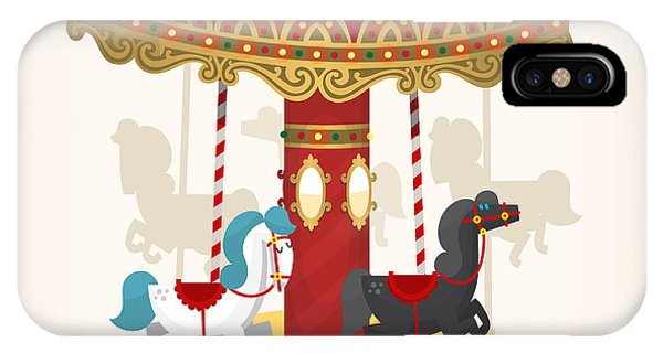 Fair iPhone Case - Traditional Funfair Amusement Horse by Yauhen Paleski