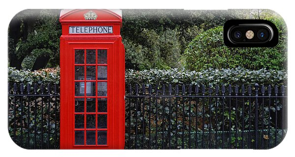Traditional Red Telephone Box In London IPhone Case