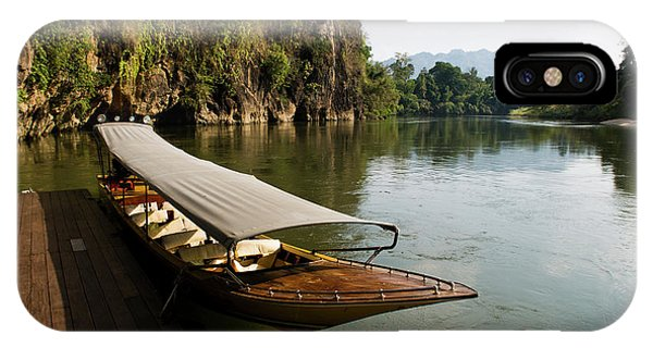 Traditional Thai Long Boat Docked IPhone Case
