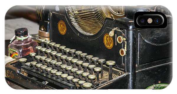IPhone Case featuring the photograph Traditional Typewriter by Susan Leonard