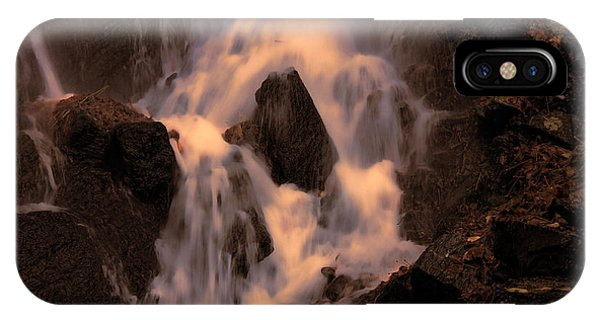Traditional Waterfall At Sunset IPhone Case