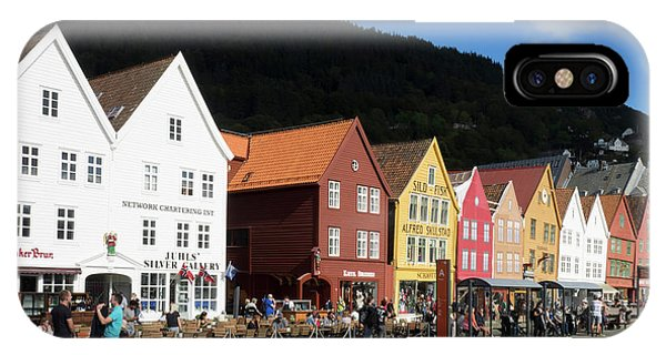Small Business iPhone Case - Traditional Wooden Hanseatic Commercial by Panoramic Images
