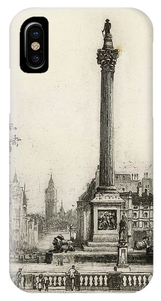 Trafalgar Square, With Big Ben Phone Case by Mary Evans Picture Library