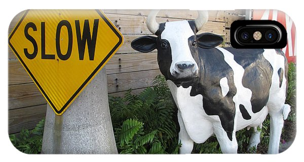 Traffic Cow IPhone Case