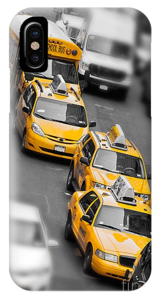 New York City Taxi iPhone Case - Traffic by Delphimages Photo Creations