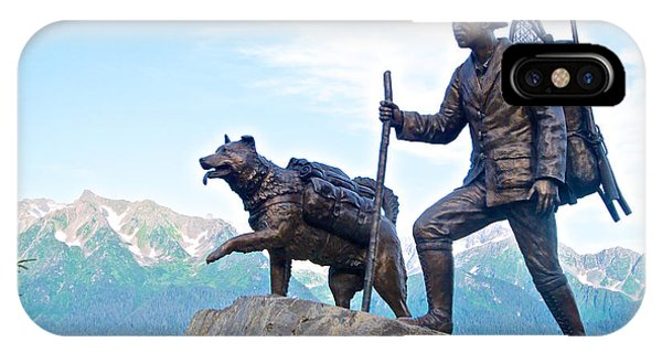 Trail Blazers Sculpture For 2012 Iditarod Beginning At Mile 0 In Seward-ak IPhone Case