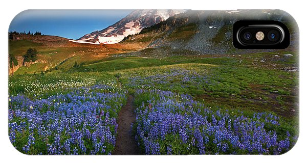 Alpine Meadows iPhone Case - Trail To Majesty by Mike Dawson