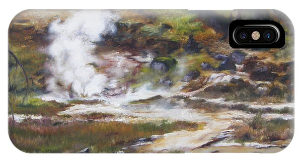 Trail To The Artists Paint Pots - Yellowstone IPhone Case
