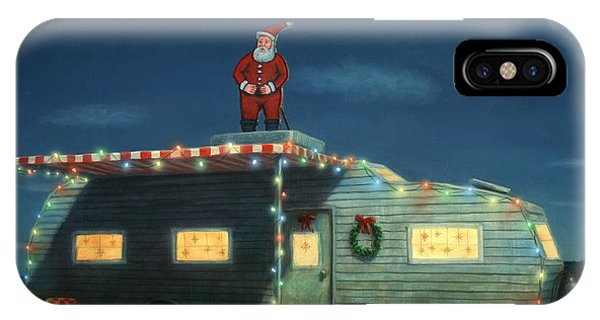 Light iPhone Case - Trailer House Christmas by James W Johnson