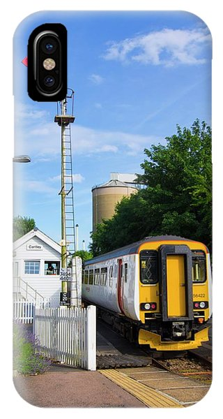 Railroad Signal iPhone Case - Train And Signal Box by Mark Williamson/science Photo Library