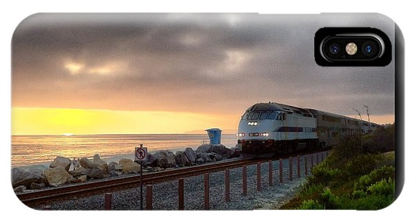 Train And Sunset In San Clemente IPhone Case