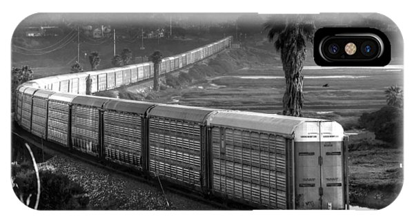 Train At San Elijo Lagoon IPhone Case