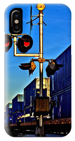 IPhone Case featuring the photograph Train Blue by Tyson Kinnison