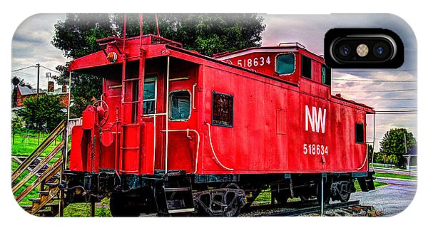 Train Caboose Phone Case by Valerie Cason