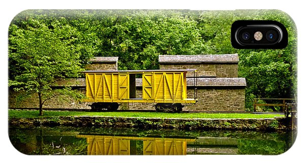 Train Car And Graining Mill. Hagley Museum. IPhone Case