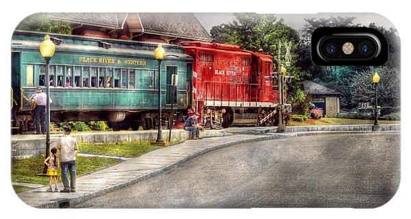 Savad iPhone Case - Train - Engine - Black River Western by Mike Savad