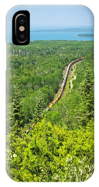 Lake Superior iPhone Case - Train In Northern Ontario by Elena Elisseeva