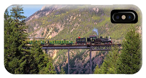 Train Over The Trestle IPhone Case