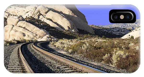 Railroad Tracks At The Mormon Rocks IPhone Case