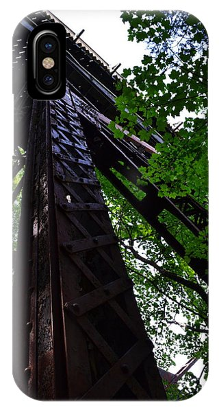 Train Trestle In The Woods IPhone Case