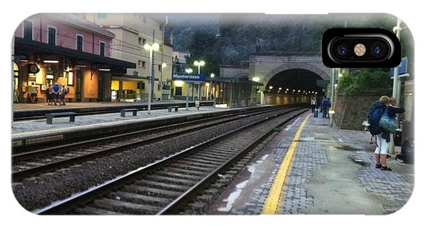 Train Tunnel In Cinque Terre Italy IPhone Case