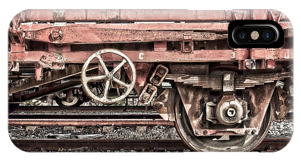 Wagon Wheel iPhone Case - Train Wagon by Delphimages Photo Creations