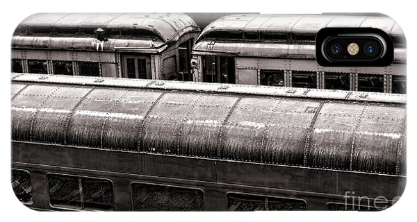 Railroad Station iPhone Case - Trains by Olivier Le Queinec