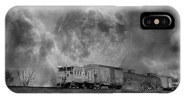 Red Caboose iPhone Case - Trainscape by Betsy Knapp