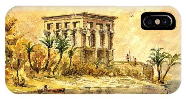 Temple iPhone Case - Trajan Kiosk Temple Aswan Egypt by Juan  Bosco