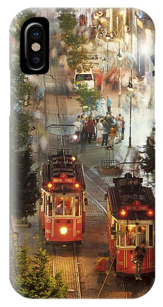 Trams In Beyoglu IPhone Case
