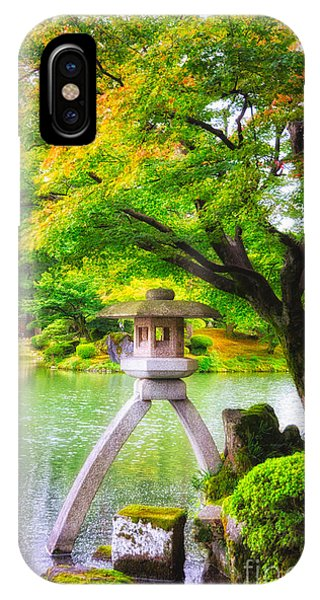 Tranquil Japanese Garden - Kenrokuen - Kanazawa - Japan IPhone Case