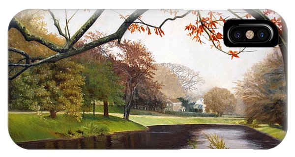 Tranquil Town Pond In East Hampton IPhone Case