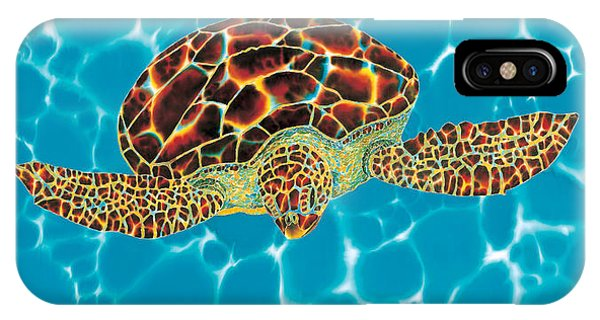 Caribbean Sea Turtle IPhone Case