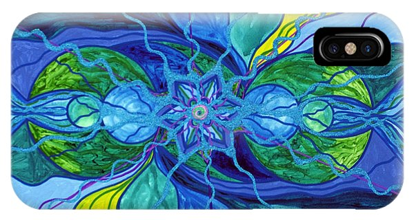 Mandala iPhone Case - Tranquility by Teal Eye Print Store