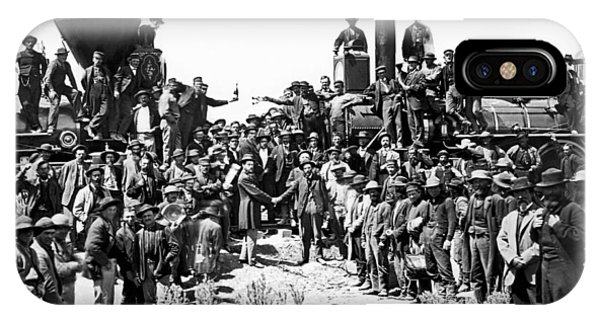 Ceremony iPhone Case - Transcontinental Railroad by Underwood Archives